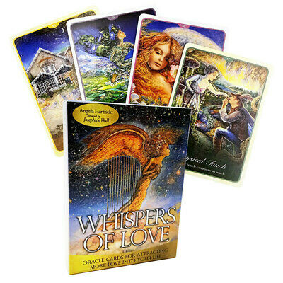 50Pcs Whispers of Love Tarot Deck Cards By Angela Hartfield & Josephine Wall New