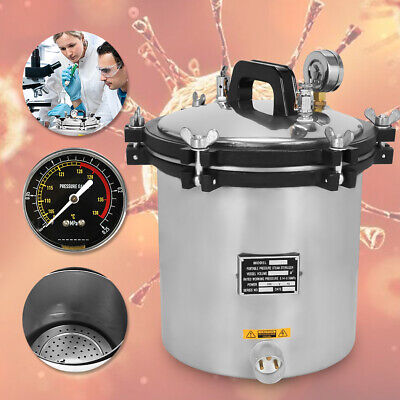 EU Top 18L Stainless Steel Autoclaves Sterilizers Dental Medical Lab Equipment