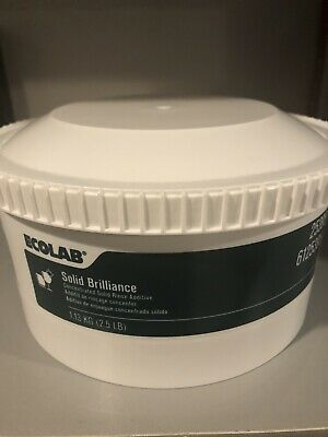 New Ecolab Concentrated Solid Brilliance Rinse Additive