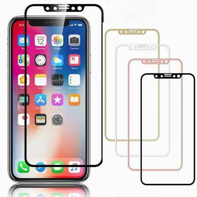 For iPhone 11 Pro Max XS XR X 8 7 Tempered Glass FULL COVERAGE Screen Protector