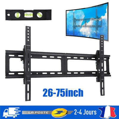 "Support mural tv muraux pivotant et inclinable orientable 26 32 42 55"" 66-190cm"