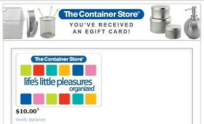 The Container Store Egift Gift Card - $10 email delivery