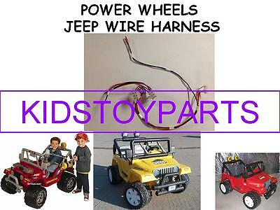 NEW! POWER WHEELS Wire Harness For Jeeps & Others **From ... on jeep carrier bearing, jeep seat belt harness, jeep visor clip, jeep gas sending unit, jeep engine harness, jeep tach, jeep wiring connectors, jeep relay wiring, jeep wire connectors, jeep key switch, jeep exhaust gasket, jeep vacuum advance, jeep bracket, jeep intake gasket, jeep knock sensor, jeep sport emblem, jeep electrical harness, jeep condensor, jeep exhaust leak, jeep wiring diagram,