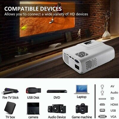 Portable 3000Lumens Android 6.0 Wifi 3D LED 4K HD 1080p Video Projector HDMI VGA