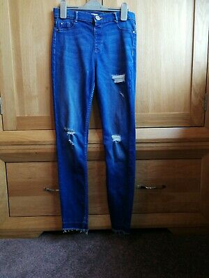River island molly riped skinny Jeans size12 Years