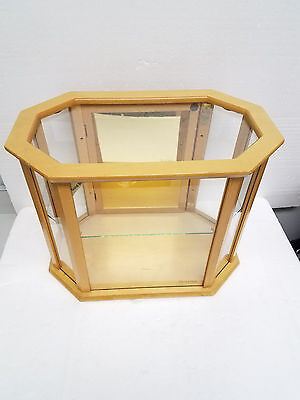 VTG Bulova Watch Company  Wooden Advertising Display Case Glass cabinet