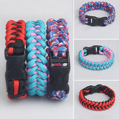 paracord keychain outdoor safety survival gear rope keyring carabiner kits JDUK