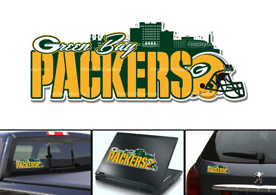Green Bay Packers Go Pack Go Window Bumper Decal 6x4