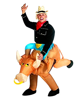 BULL RIDER COWBOY ILLUSION INFLATABLE COSTUME SS24529G