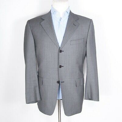 Canali Made in Italy Super 120s Men's Suit 100% Wool Light Gray 40
