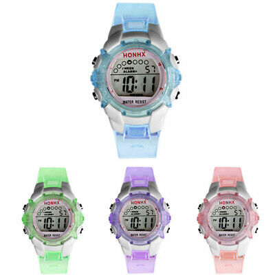 Kid Children Girls Digital LED Watch Quartz Alarm Date Sports Casual CA Watch