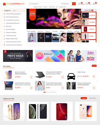 Make Your Market place with Strang Active eCommerce CMS System with Licence Key