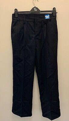 Next Boys Black Teflon Plus Fit Straight Leg School Trousers Age 13 Years