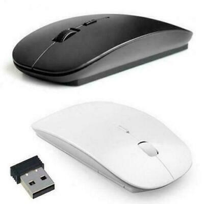 Black Wireless Cordless Mouse Optical Scroll 2.4GHz For PC Laptop Computer USB.
