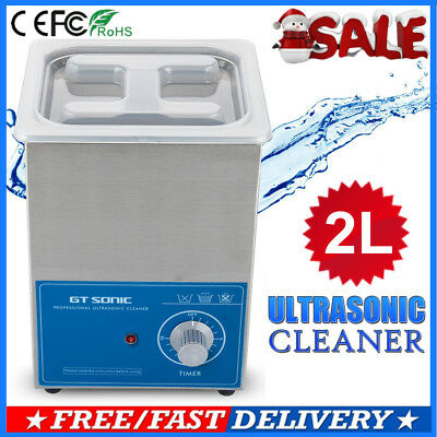 2L Ultrasonic Cleaner Ultra Sonic Bath Cleaning Machine Stainless Tank Timer