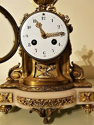 19th Century French Ormolu & Marble Mantel Clock.
