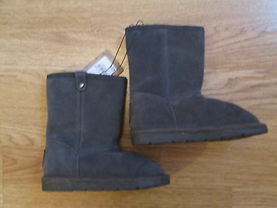 girls boots winter Mantaray real suede leather grey infant size 7 Debenhams