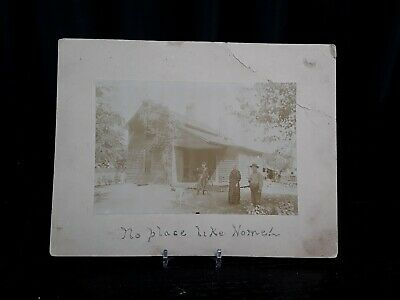 Antique 1890's Champaign Illinois Cabinet Card Photograph Moss Family Home