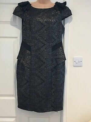 NEW RRP £55 Marks /& Spencers Per Una Black//Red Floral Frill Layered Maxi