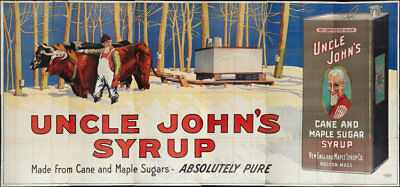 Uncle John's Syrup Lithograph