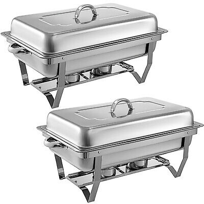 9L Foldable Stainless Steel Chafer Dish Chafing Buffet Bain Marie Food Warmer