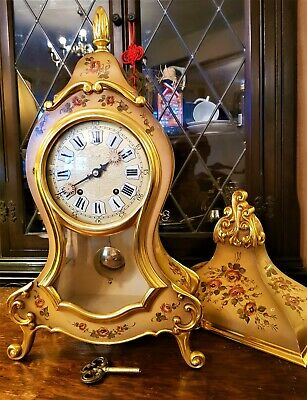 "Large French Boulle Style Bracket / Mantel Clock with Bracket - ""ZENITH"""