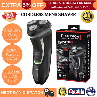 Remington Mens Shaver Razor Cordless WET DRY Lithium Rechargeable Electric NEW