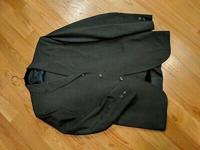Vintage 60's grey Wool Sack Suit  38r Ivy League Trad USA Made