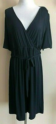 Isabel Maternity Womens Jumpsuit Large Black One Piece Romper Short Sleeve New