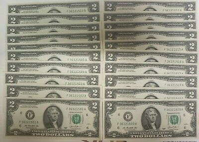 THREE New Sequential Uncirculated $10 Dollar Bills from BEP Pack Series 2013