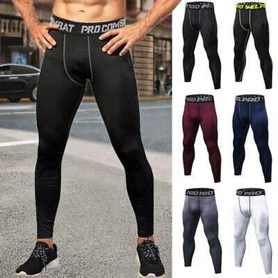 Men's Compression Base Layer Gym  Sports Pants Leggings Tight Running Bottoms US