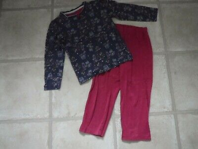 Girl's PJ's TU Age 3-4 years Pink / Blue - Long sleeved - 100% cotton