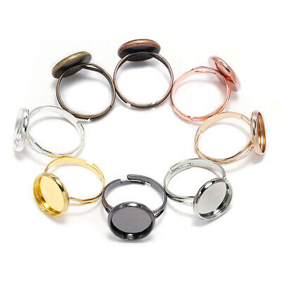 ca 10 Piece Adjustable Ring Base Cameo Settings Tray Jewelry Making Ring