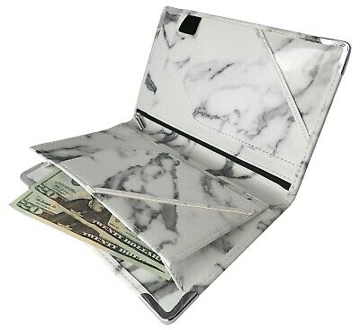 Marble Server Book with Magnetic and Zipper Pocket  8x5
