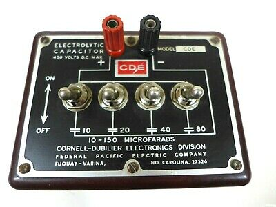 CDE / CDE Decade Capacitor Substitution Toggle Box Cornell-Bubilier Electronics