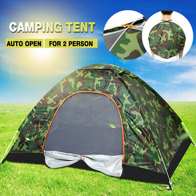 US Automatic Camping Waterproof Outdoor Folding Tent Camouflage Hiking 2 Person