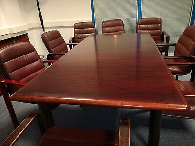 boardroom table and 8 chairs sideboard &table