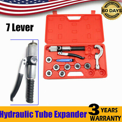 NEW Hydraulic Tube Expander 7 Lever Swaging Plumbing Kit HVAC Tool Pipe