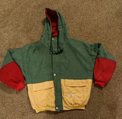 Boys Urban Appeal Duality Hippy Hipster Colourful Bomber Jacket Size Large