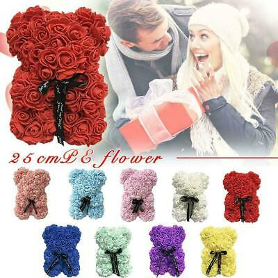 25cm/40cm Foam Rose Flower Xmas Gift Teddy Bear Toy Doll For Birthday Wedding