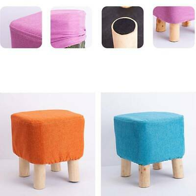 Padded Seat Footstool Sofa Side Pouffe Ottoman Foot Stool Dressing Stool LA