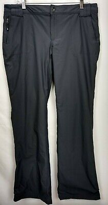 Eddie Bauer Womens Polar Fleece Lined Pants Size 12 Gray Stretch Water Resistant