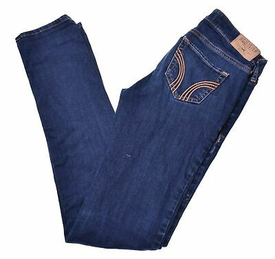 HOLLISTER Womens Jeans W24 L33 Blue Cotton Slim  GU09
