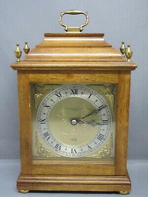 Vintage Mahogany Elliott Of London 8 Day Mantel Clock, Mappin And Webb, Working!
