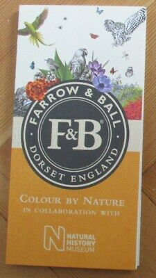 Brand New FARROW & BALL Paint Chart: Natural History Museum Colour by Nature