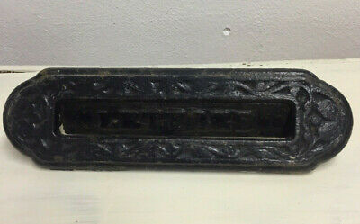 Antique Cast Iron Front Door Letter Box Letters Reclaimed Opener
