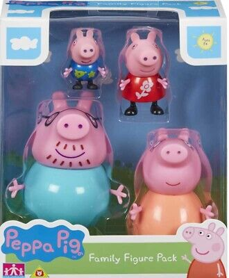 Peppa Pig Figures - Peppa's Family Figure Pack of 4 Articulated Figure Toys Kids