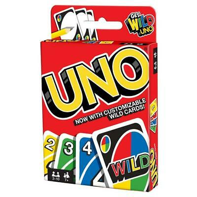 UNO Card Game Classic Family Fun Portable All Ages Strategy Mattel, Inc.