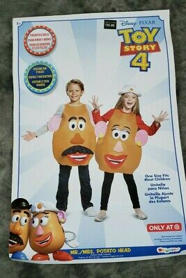 Disney Toy Story Mr Mrs Potato Head Deluxe Child Costume