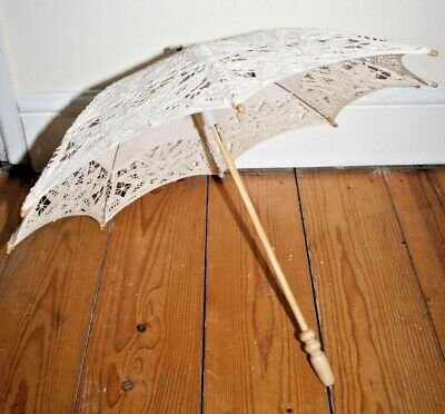 Umbrella Girls Vintage Lace Assorted Sun Traditional Embroidered Retro Dole